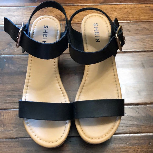 SHEIN Shoes   Black Platform Sandal